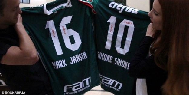 cd5d09e97708b Palmeiras homenageia Epica com camisas personalizadas - RockBreja - Rock