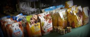 An example of our table at the Pet Food Pantry at RARA