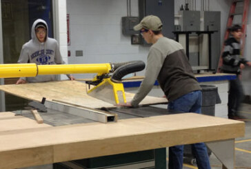 High school students build homes