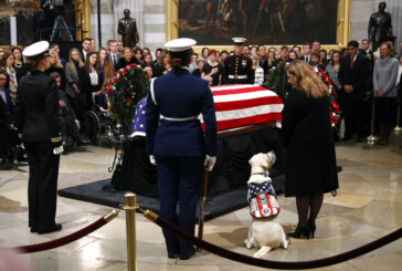 Bush saluted by CIA comrades and service dog Sully