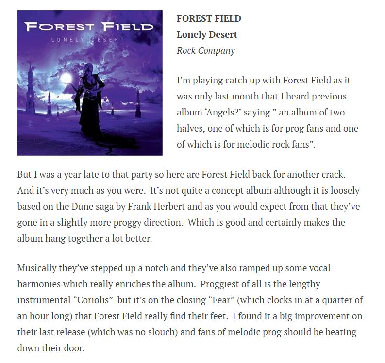 the rocker forest field