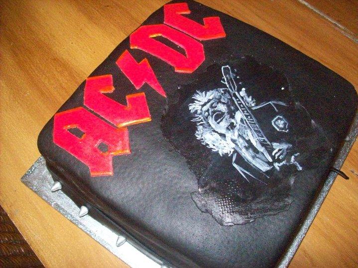 My Ac Dc Cake For My Birthday Rock Countdown