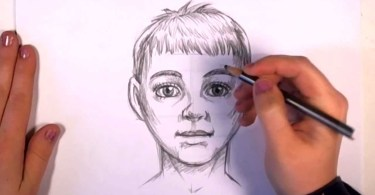 How to draw a realistic kids face