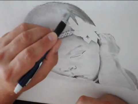 How to draw a realistic baby face step by step & easy for beginners