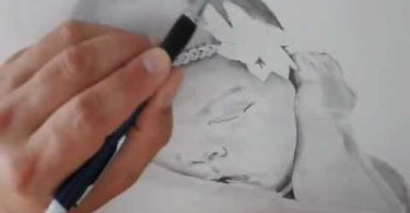 drawing of a realistic baby face step by step