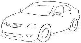 How To Draw 3d Car Step By Step For Kids Beginners Easy Video