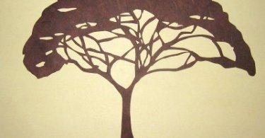 Method to draw acacia tree