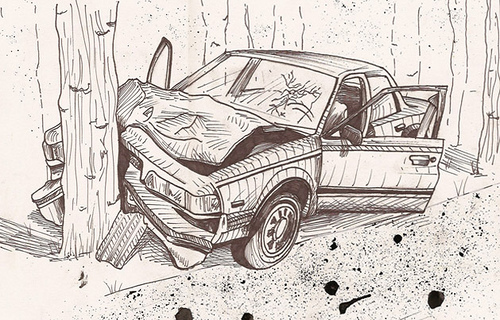 method to draw accident scene