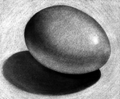 how to draw 3d egg