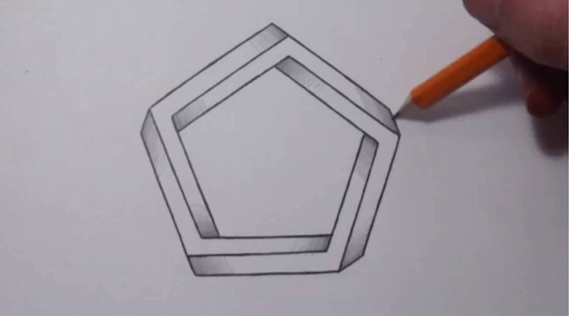 how to draw pentagon