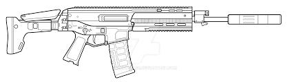 how to draw acr gun 6.8 easy step for beginners