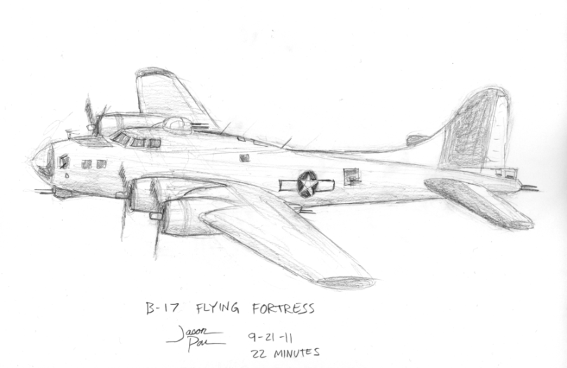 how to draw a boeing b 17 step by step for beginners bomber