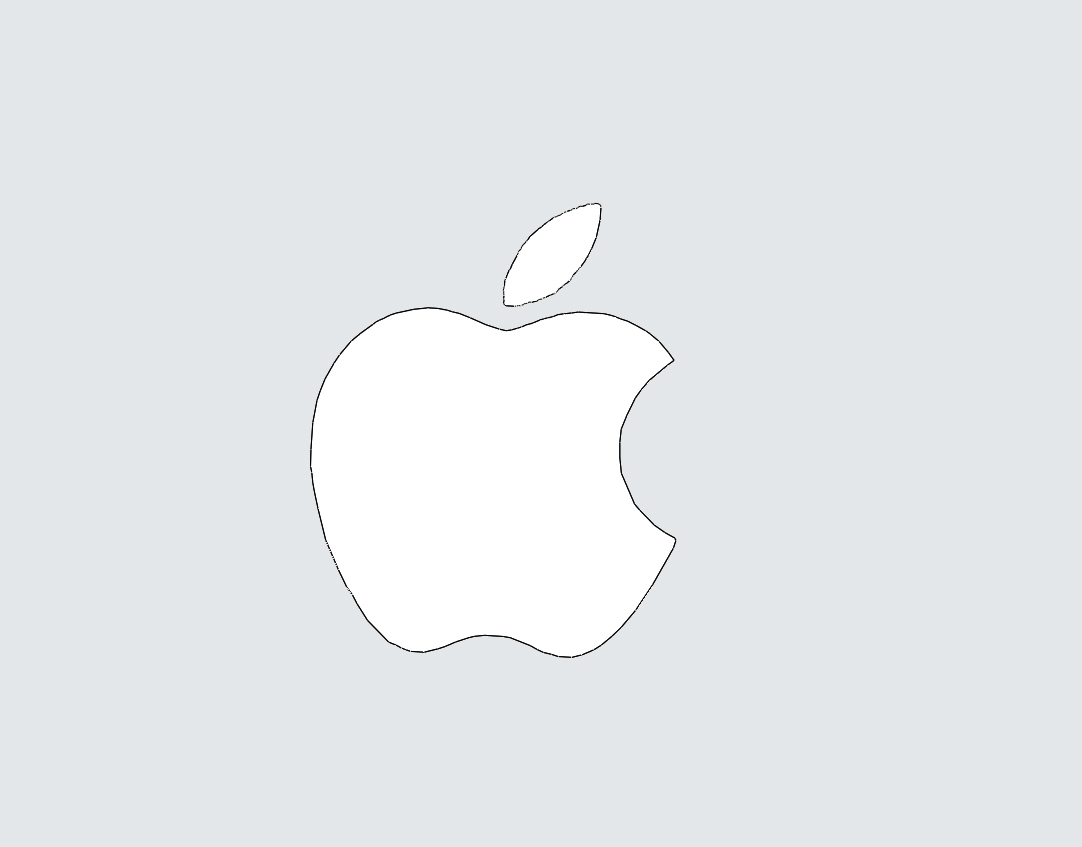 how to draw an apple logo