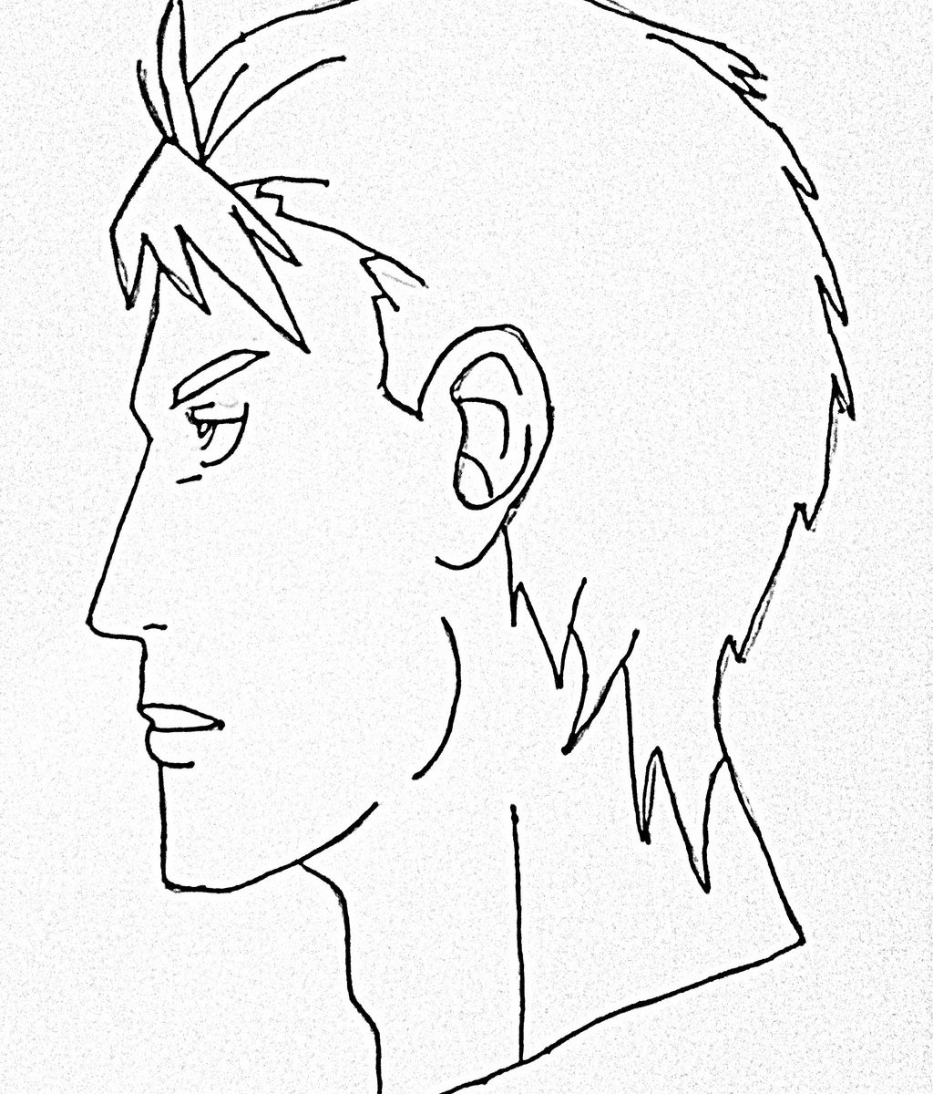 How To Draw Male Anime Face Side View Step By Step For Beginner Easy