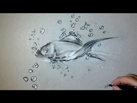 How To Draw A Fish In Water Easy Step By Step For