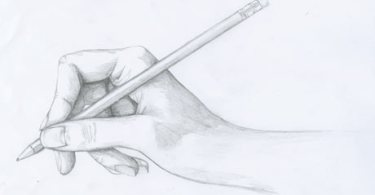 How to draw a hand holding a pencil