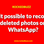 Deleted photos on WhatsApp