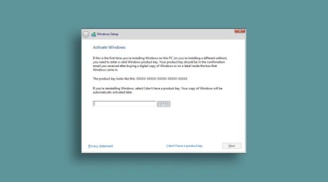 Windows 10 Setup Product Key Activate Windows