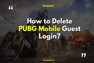 Delete PUBG Mobile Guest Login