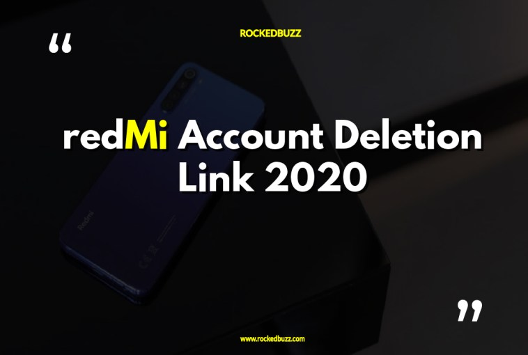 Mi Account Deletion Link 2020