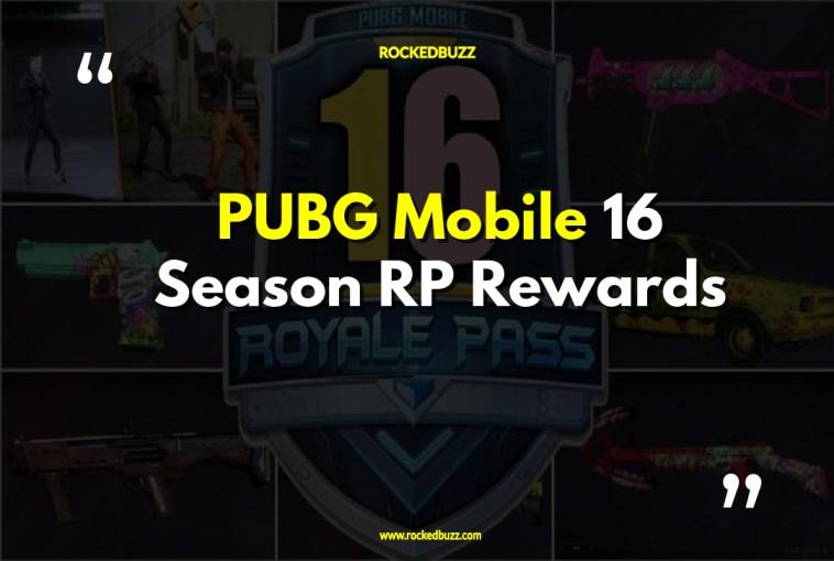 PUBG Mobile 16 Season RP Rewards