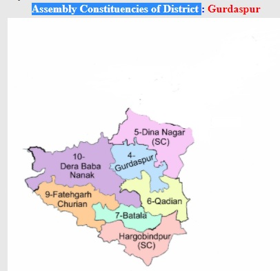 Select Assembly Constituencies of District