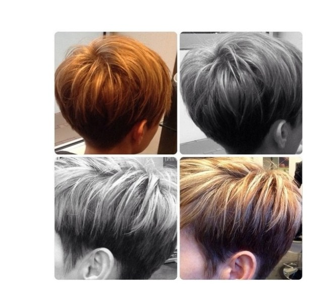 short hair styles for women Color