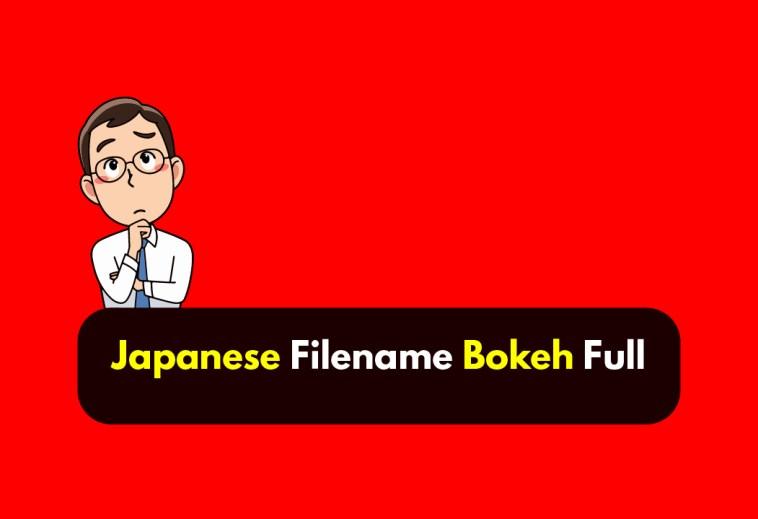 Japanese Filename Bokeh Full WF