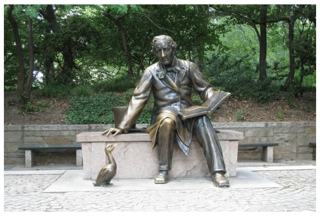 Which Hans Christian Andersen tale is considered autobiographical books