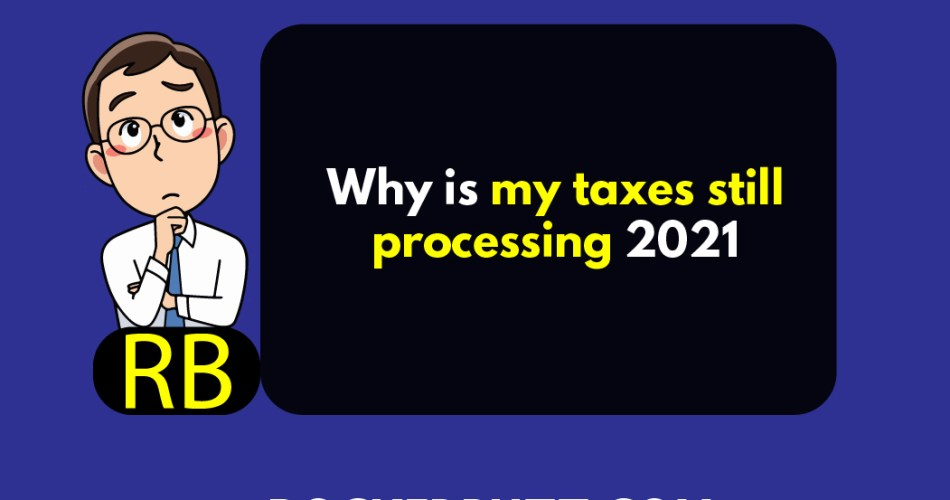 Why is my taxes still processing 2021