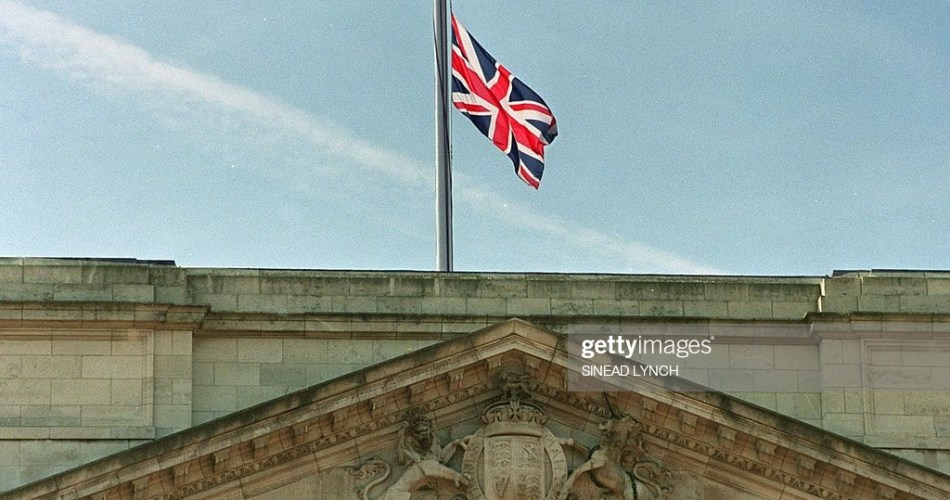 When does the Union Jack fly over Buckingham Palace?