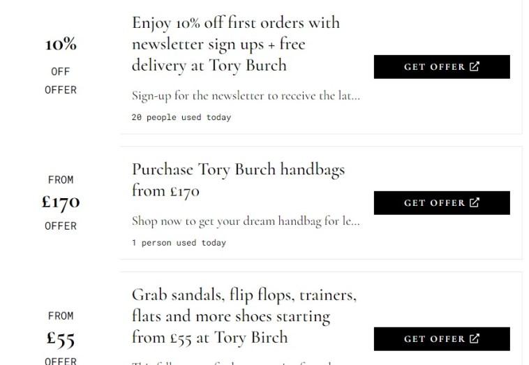 Tory Burch Promo Code 2021