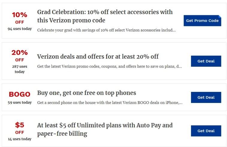Verizon Promo Codes 2021