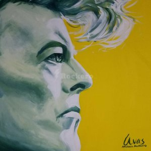 david bowie original painting canvas