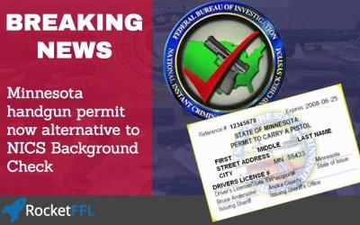 Minnesota Handgun Carry Permit Now Alternative to NICS Background Check