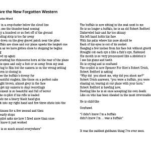 """""""We Are the New Forgotten Western"""" by Nicholas Ward"""