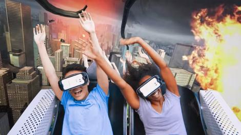Riding a roller coaster just got a whole lot more real with virtual reality