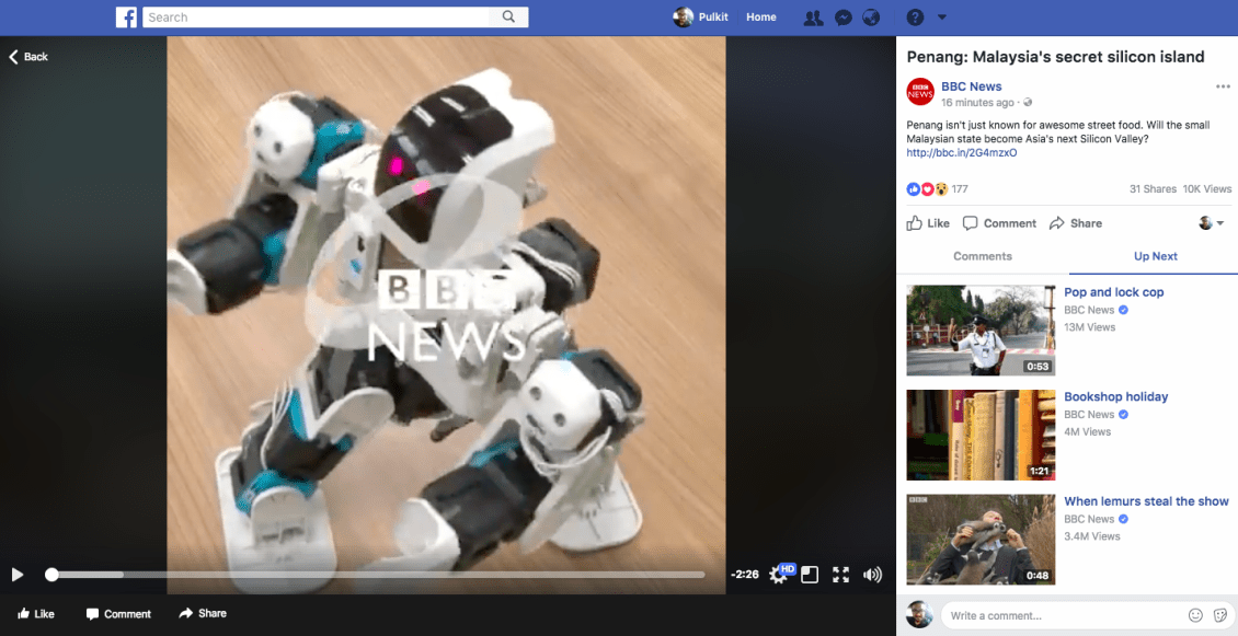 link your breaking news video to your social media posts like bbc
