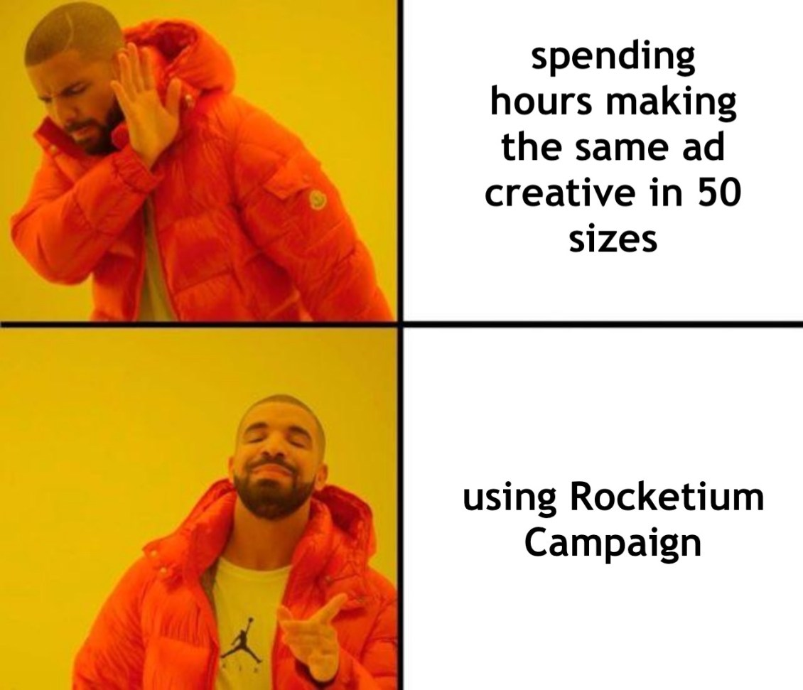 Use Rocketium Campaign to make ad creatives for display advertising