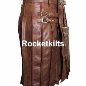 brown kilts,brown leather kilt,mens kilts for sale cheap,modern kilts,leather utility kilt, leather kilt pattern