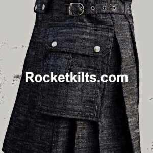 denim kilt, mens denim kilt,blue kilt, black kilt,mens black kilt,kilt for sale, great kilt