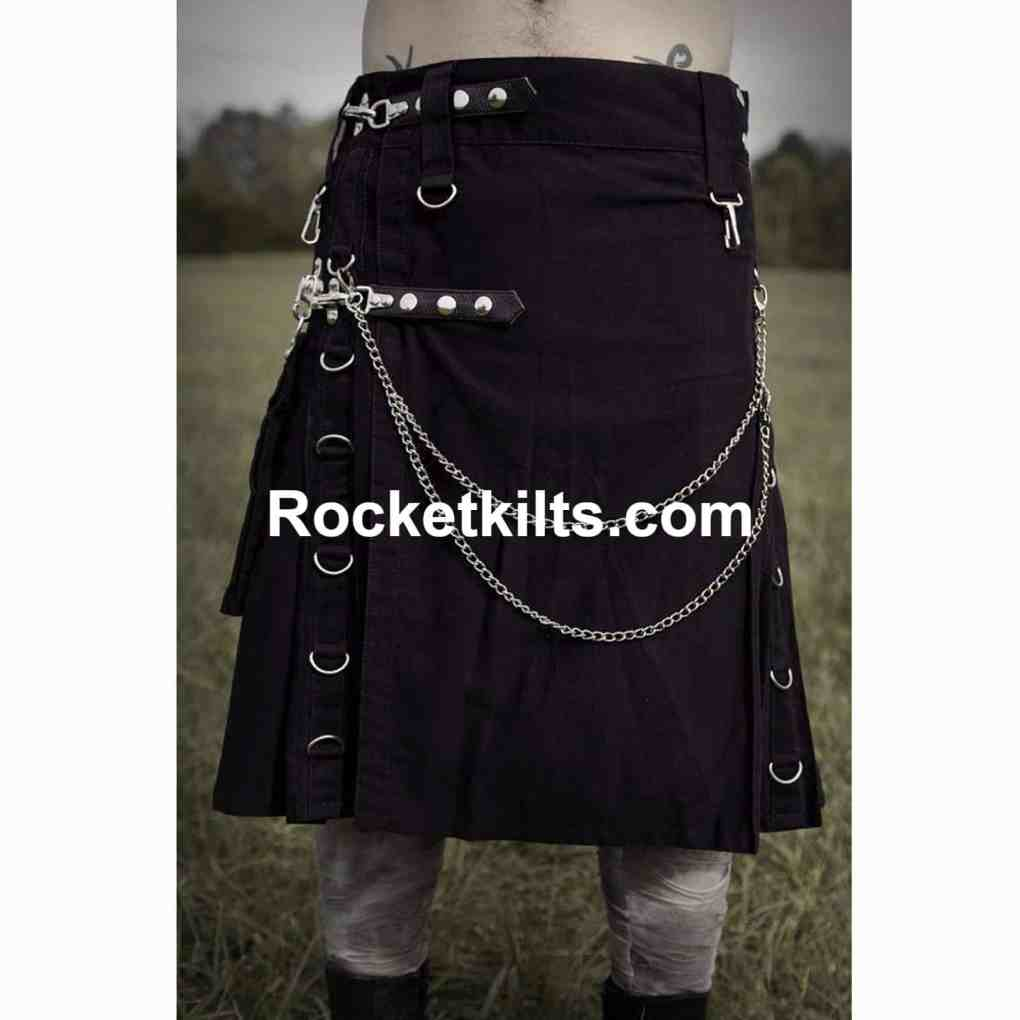 Modern Scottish Men In Kilts Utility Gothic Kilt