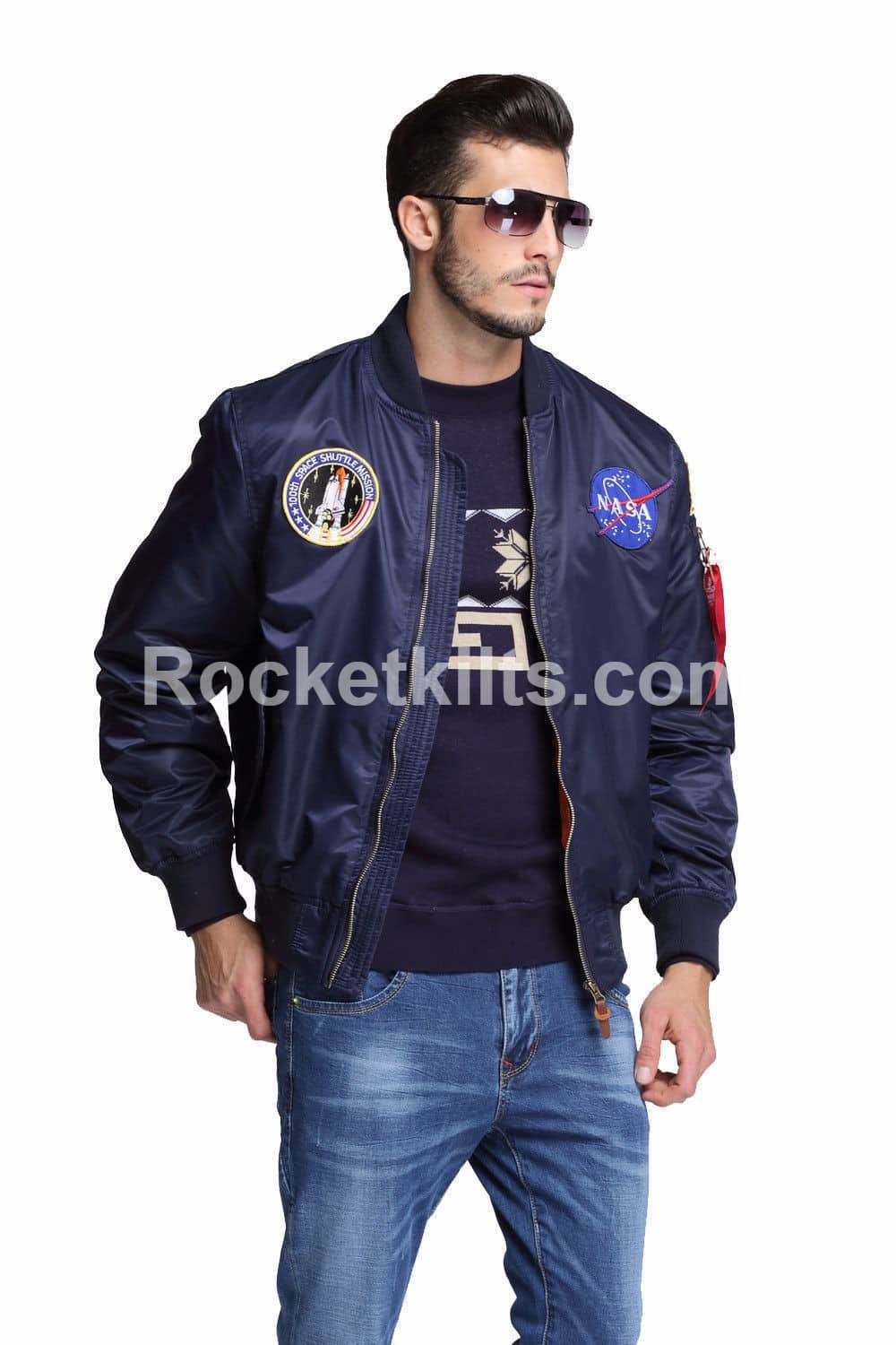 hot sale search for clearance price reduced New MA1 NASA Flight Bomber Jacket Mens For Sale