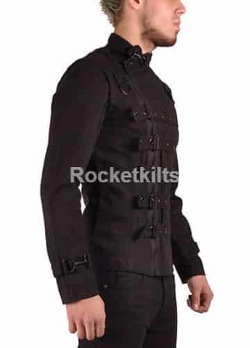 bondage jacket,gothic jackte, gothic jackets, military jacket, mens gothic jacket