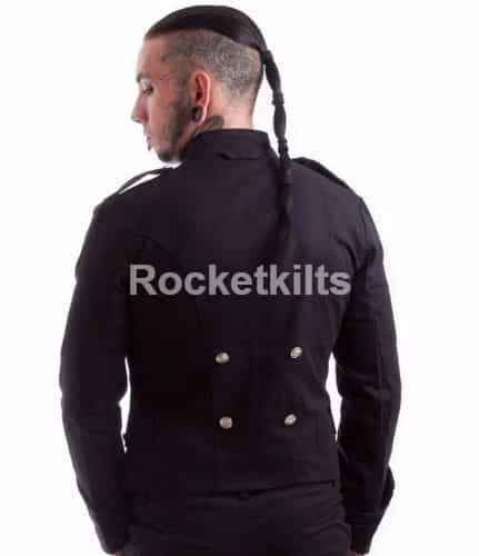 Gothic military jacket,mens military style pea coat,mens military peacoat,sterlingwear peacoat