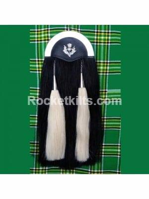 horse hair sporran,kilt sporran,black sporran,sporran for sale,irish sporran