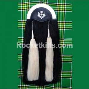 horse hair sporran,kilt sporran,black sporran,sporran for sale,irish sporran