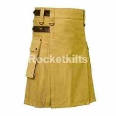 utility kilts,khaki kilts,Leather Strap, Utility Kilt, Mens Kilt, stylish kilt,utility kilt for the active men,contemporary kilts