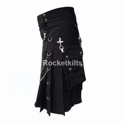 gothic kilts,steampunk kilt,cargo kilt,black kilt,cotton kilt,gothic kilt, kilt for sale, great kilt