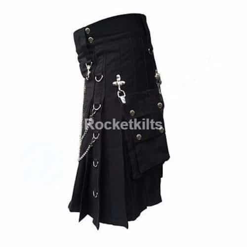 Dark black color kilts